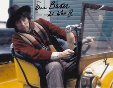 TOM BAKER SIGNED 8X10 COLOR PHOTO DOCTOR WHO The 4th Doctor  AUTOGRAPH