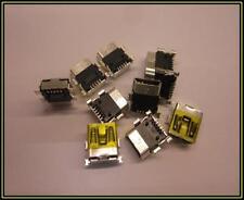 MINI USB 5 pin tipo B Femmina Plug Jack navigazione Connector Adattatore 2 pezzi