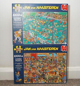 Jan Van Haasteren Comic 2x1000 Piece Jigsaw Puzzle Bundle - Incomplete