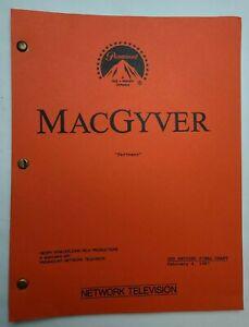 "MACGYVER / Mark Lisson 1987 TV Script, Richard Dean Anderson ""Partners"""
