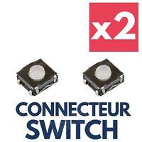 2x interrupteur Switch pour Clé Plip Télécommande PEUGEOT 406 306 106 205 405