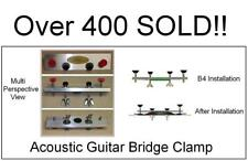 AxeMasters Guitar BRIDGE CLAMP 2 - NONPARALLEL Bridge Pin Holes Luthier Tool