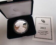 2012-W PROOF SILVER AMERICAN EAGLE COIN WITH BOX & COA
