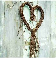 Gisela Graham Natural Twig Heart Wreath Decoration Approx 33 x 72cm