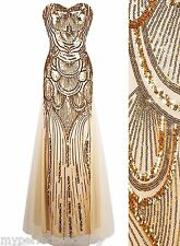 50% OFF! DISCOUNT ALL SIZES! Mermaid Dress Gold Sequin Prom Evening Formal Gown