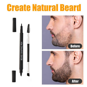 Waterproof Beard Pencil Filler Mens Hair Grower Long Lasting Moustache Pen Set