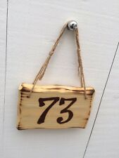 Driftwood Style Shabby Chic Custom Made House Room Number Sign 15cm x 10cm
