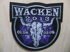 Wacken 2013 Logo Aufnäher Patch Rammstein Alice Cooper Doro Rage Nightwish
