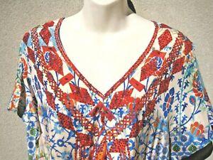 Ruby ya ya caftan kaftan jewelled maxi long colourful dress-Size S 10/12