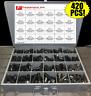 420 Pieces Grade 8 Flange / Frame Bolt & Lock Nut Assortment Kit Black Phos/Oil