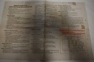 Abgleichvorschrift für Saba- Meersburg-Automatic 6-3 D