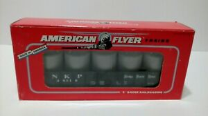 Gilbert American Flyer (6-48510) S Scale Nickel Plate Gondola & Canisters LN/box