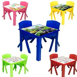 Strong Table and Chairs for Children Kids Plastic Nursery Set Outdoor indoor Tea