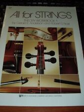 New! All For Strings Theory Wookbook #1 - Multiple Instruments, Only $3.50 ea.