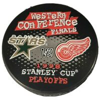 1998 STANLEY CUP PLAYOFFS NHL DALLAS STARS VS DETROIT RED WINGS VINTAGE PUCK