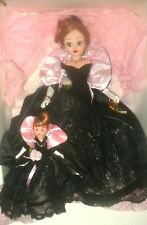 Cissy Onyx Velvet and Lace Gala Gown Coat w/ her little sister Cissette with Box