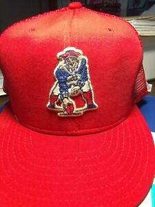 boston patriots ball cap from the 70s, vintage