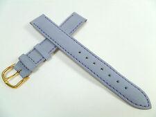 15 mm FLIEDER HELLBLAU UHRENARMBAND DORNSCHLIEßE GLATT MATT LEDER UHRENBAND