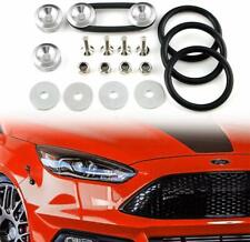 Silver Aluminum Fastener Quick Release Car Bumper Fender Trunk Hatch Lid Kit