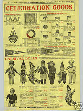1917 PAPER AD Uncle Sam Carnival Doll Clown Sailor Miss Liberty Koa Wood Ukulele