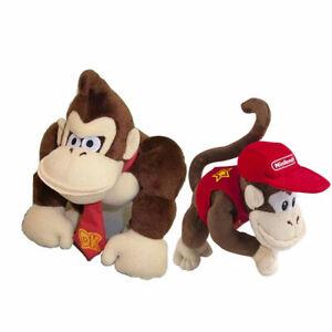 2pcs Super Mario Bros Donkey Kong / Diddy Kong Plush Doll Stuffed Soft Toy Gift