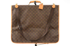 Louis Vuitton brown 4pc monogram LV logo hanger pouch garment cover bag $3150
