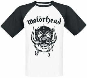 Official Motorhead Louder Baseball Shirt Raglan XXL BNWT Black White Tshirt New