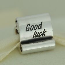 Authentic Pandora 790514 Good Luck Sterling Silver Graduation Bead Charm