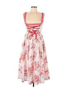 Trachtenpoint Pink Floral German Beer Girl Corset Dirndl Dress 38 M Modcloth