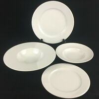 4 Piece Place Setting by Rosenthal Epoque White Germany Plates and Bowls