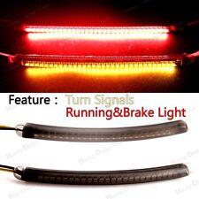 L&R LED Turn Signal Running Brake Light Kits&Smoked Lens For Harley&Motorcycle