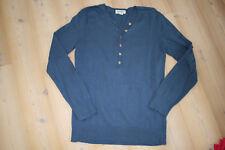 schöner Henley Pullover Hess Natur 36/38 jeans blau Bio-BW Knöpfe sgt. Zstd.