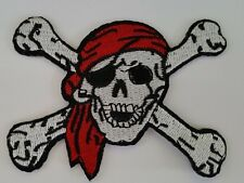 pirate skull and crossbones Iron on sew On patch transfer fancy dress