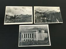 VINTAGE BLACK-AND-WHITE POSTCARDS OF KAZAKHSTAN.  1950s. LOT OF THREE