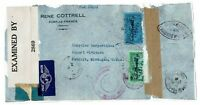 Martinique Censored Airmail Cover to USA, Front Only, see note - Lot 101717