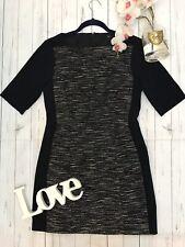 Tibi New York US 6 UK 10 black fitted work office business career dress VGC