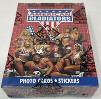1991 AMERICAN GLADIATORS TOPPS Trading Card BOX 36 Sealed Packs BBCE Wrapped