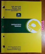 00006000 John Deere 920 930 Rotary Roll Mower-Conditioner 986351-987200 Operator Manual