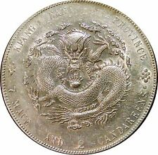 CHINA ~ 1904 KIANGNAN SILVER DRAGON DOLLAR - Y#145a WITH DOTS - FULL LUSTER COIN