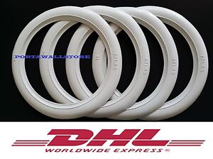 "15"" Tire Trim White wall Set of x4 Fits Volvo 1800,1800S,P1800,P1800 ES Etc.#242"