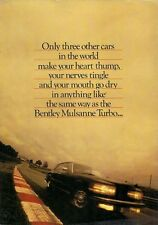 Bentley 1984-85 UK Market Foldout Brochure Eight Mulsanne Turbo Continental