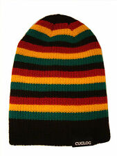 Striped Reggae Rasta Knit Beanie Cap Hat Caps Hats Black Red Gold Green