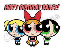 Powerpuff Girls edible party decoration cake topper cake image frosting sheet