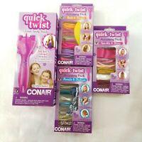 CONAIR Infinity PRO Quick Twist Hair Braiding Wand with 3 Hair Accessory Kits