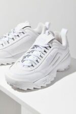Fila Women Shoes Disruptor II Triple White Synthetic Leather size US 9