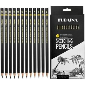 Professional Drawing Sketching Pencil Set-12 Pieces Art Drawing Graphite 12B-4H