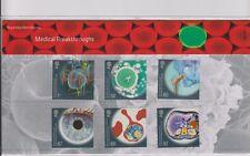Paquete de presentación avances médicos GB 2010 no. 446 SG:3115 -3120 conjunto de menta