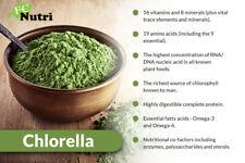 Organic Chlorella Tablets Broken Cell 3000mg Per Serving, 500 Tablets