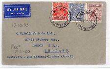 BH108 1930 AUSTRALIA Sydney GB London Airmail via KARACHI