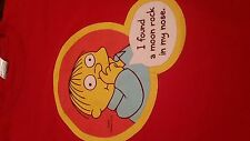 The Simpsons Ralph Wiggum I Found A Moonrock In My Nose Graphic T-Shirt (Large)